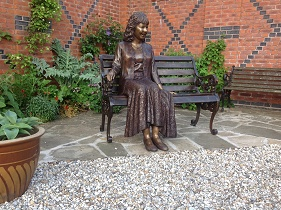 Lady on a bench