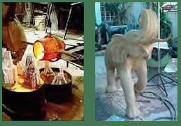 Bronze Sculptures and Bronze Elephant